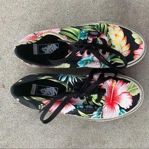 VANS tropical black floral slip on sneaker kid 2.5